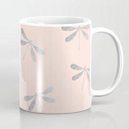 dragonfly pattern: silver & rose Coffee Mug