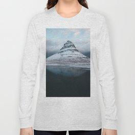 Iceland Mountain Reflection - Landscape Photography Long Sleeve T-shirt