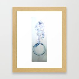 Thinking about it: I don't know and you don't either,, Framed Art Print