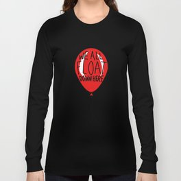 IT We All Float Down Here Red Balloon Long Sleeve T-shirt