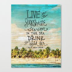 Live In The Sunshine - Photo Inspiration Canvas Print