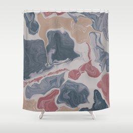 Abstract Liquid Geode Shower Curtain
