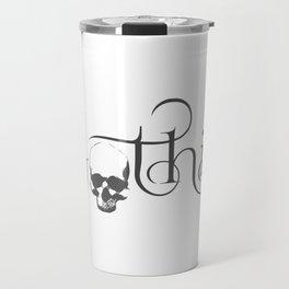 Gothik Skull logo Travel Mug