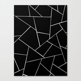Black White Geometric Glam #2 #geo #decor #art #society6 Canvas Print