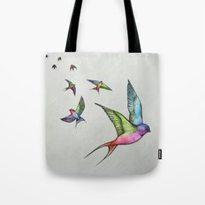 Swallows in Flight Tote Bag