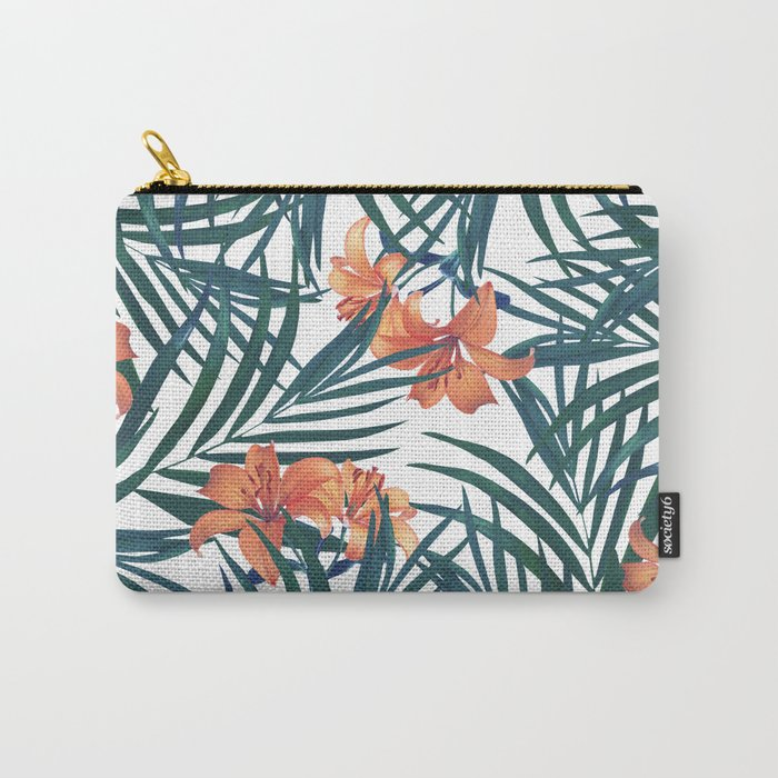 Tropical Lilies Carry-All Pouch