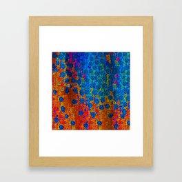 Burning Textile Drops Framed Art Print