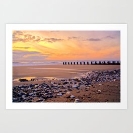 Pebbles And Puddles  Art Print
