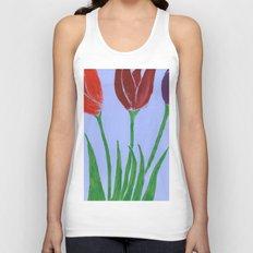 Tulips Unisex Tank Top