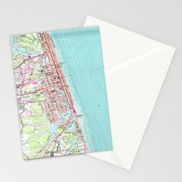 Vintage Map of Virginia Beach (1965) Stationery Cards