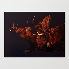 Duelling bull moose duo Canvas Print