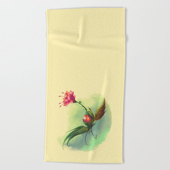 Essence of Nature - Humming Blossom Beach Towel