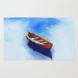 Boat Art Painting Rug