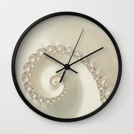 Fantastic Fractal Champagne Color Wall Clock