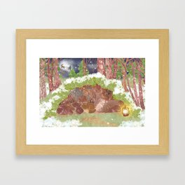 Miharu Shirahata | In the evening of falling snow Framed Art Print
