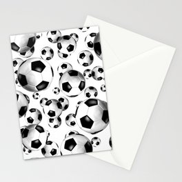 3D look soccer balls pattern Stationery Cards