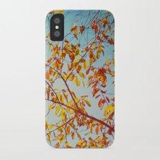 textured leaves. iPhone X Slim Case
