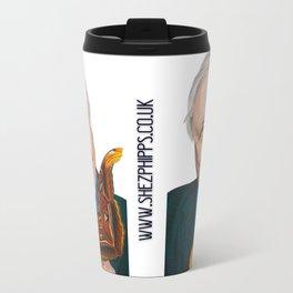 SIR DAVID ATTENBOROUGH 2015 71cm x 49cm Prismacolor & Mixed Media Travel Mug