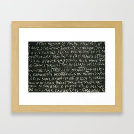 scrawl Framed Art Print