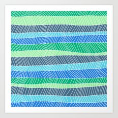 Beach Stripe (Cool) Art Print