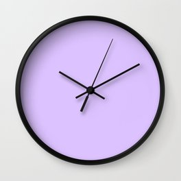 Retro Pastel Purple Wall Clock