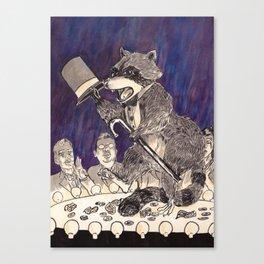 Dapper Raccoon Canvas Print