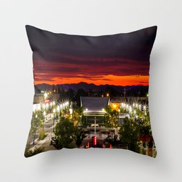 City scape /Medford OR Throw Pillow