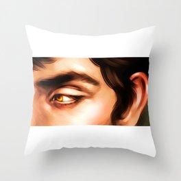 Gold Eyed Boy Throw Pillow