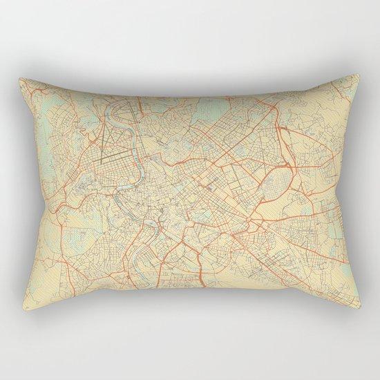 Rome Map Retro Rectangular Pillow