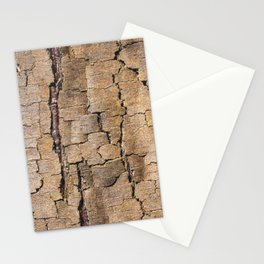 Brown tree trunk with abstract patterns and textures Stationery Cards