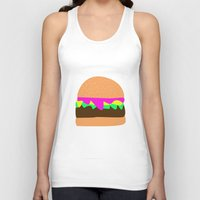 burger Tank Tops featuring Burger by Sara Hepe