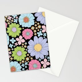 Retro Floral Stationery Cards