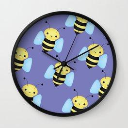 BEE'S (PURPLE) Wall Clock