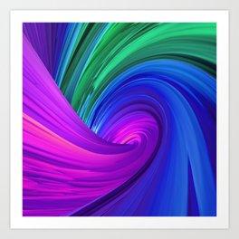 Twisting Forms #4 Art Print