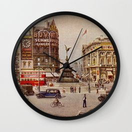 Vintage Piccadilly Circus London Wall Clock