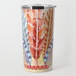 Autumn Feathers Travel Mug