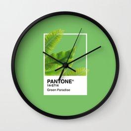 Pantone Series –Green Paradise Wall Clock