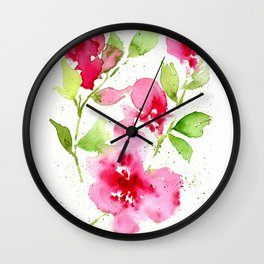 Floral 11 Wall Clock