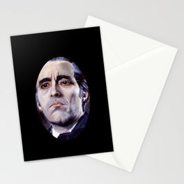 Christopher Lee as Dracula: He is the embodiment of all that is evil. Stationery Cards