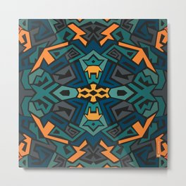 Abstract graffiti in tone of blue and yellow Metal Print