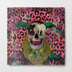 Skull & Cats Metal Print