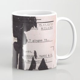 Emma - ink drawing over vintage commercial invoice Coffee Mug