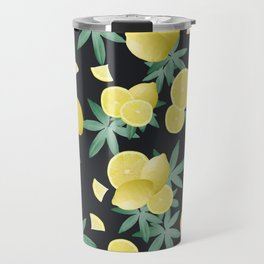 Lemon Twist Vibes #5 #tropical #fruit #decor #art #society6 Travel Mug