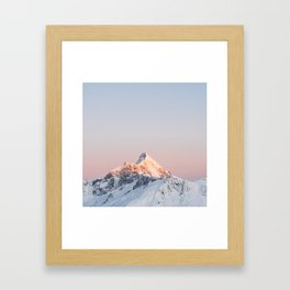 Mt Aspiring - square Framed Art Print