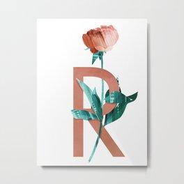 R - Rose Metal Print