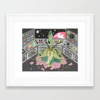 sci fi Framed Art Prints featuring sci fi by james clapham