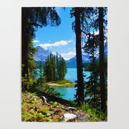 Spirit Island & Maligne Lake in Jasper National Park, Canada Poster