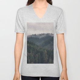 Pacific Northwest Forest - Nature Photography Unisex V-Neck