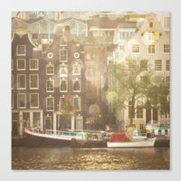 amsterdam Canvas Prints featuring Amsterdam by Cassia Beck