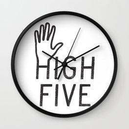 High Five Wall Clock